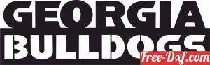 download Georgia Bulldogs logo NCAA Football free ready for cut