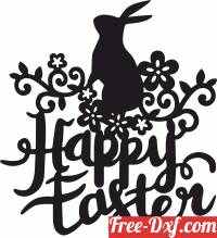 download happy easter egg bunny design free ready for cut