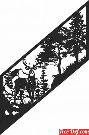 download deer scene forest clipart free ready for cut