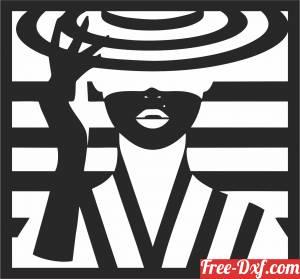 download Women wall art free ready for cut