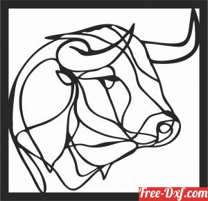 download bull Polygon Art Wall geometric free ready for cut