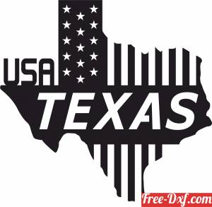 download Texas wall sign states usa flag free ready for cut