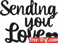 download sending you love wall sign clipart free ready for cut