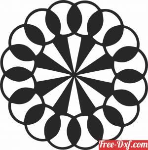 download Pinwheel wall decor free ready for cut