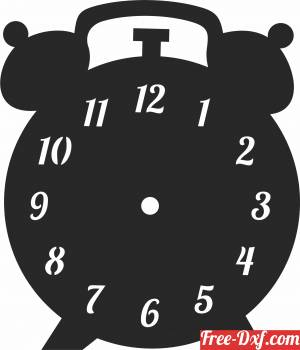 download vintage Wall Clock Vinyl Record free ready for cut