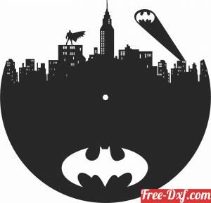 download batman Wall Clock free ready for cut