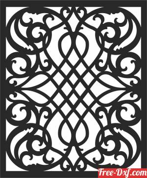 download screen WALL SCREEN   decorative door Pattern free ready for cut
