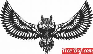 download Owl wall decor free ready for cut