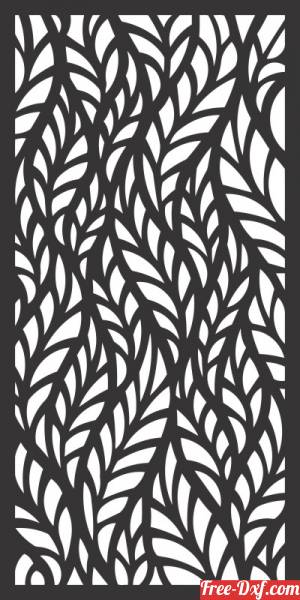 download floral decorative pattern panel wall screen free ready for cut