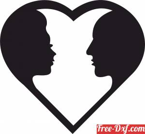 download Heart Couple valentine love sign free ready for cut