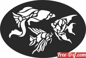 download fish wall decor free ready for cut
