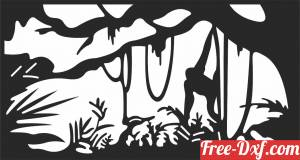 download jungle forest scene monkey free ready for cut