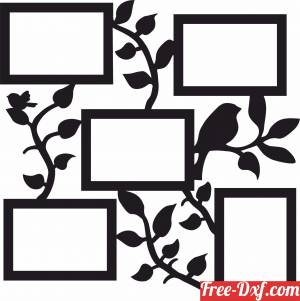 download Pictures Frame Holder memories for family member free ready for cut