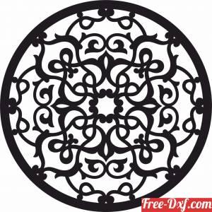 download round mandala pattern wall decor free ready for cut