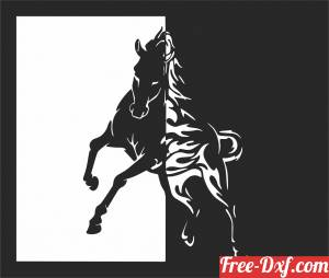 download Horse wall art free ready for cut