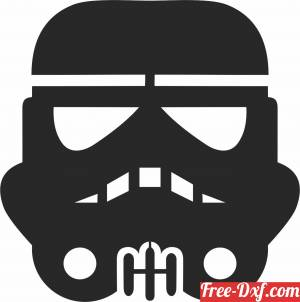 download storm trooper Star Wars Silhouette figure clipart free ready for cut