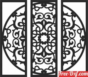 download mandala wall art panels free ready for cut
