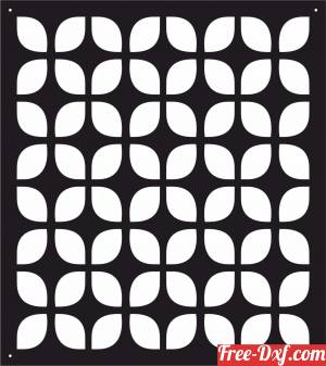 download decorative panel screen pattern art free ready for cut