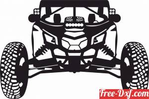 download car buggy vector free ready for cut