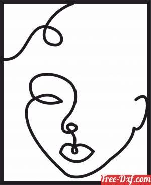 download Face women decorative art design free ready for cut