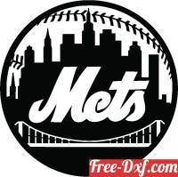 download New York Mets MLB Baseball Logo free ready for cut