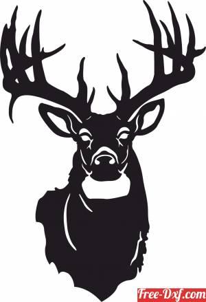 download deer art free ready for cut