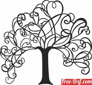 download Tree designs wall decor free ready for cut