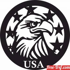 download American Eagle Flag free ready for cut