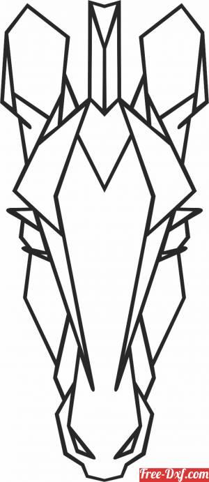 download Geometric Polygon giraffe free ready for cut