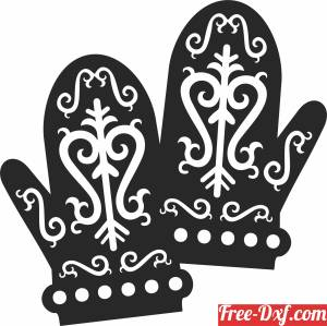 download Christmas ornaments gloves decor free ready for cut