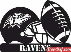 download Baltimore Ravens NFL helmet LOGO free ready for cut