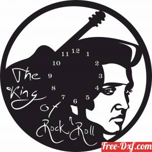 download elvis the king of rock and roll wall clock free ready for cut