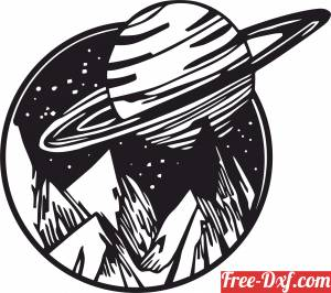 download Space Mountain clipart free ready for cut