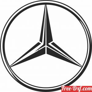 download Mercedes Benz Logo free ready for cut