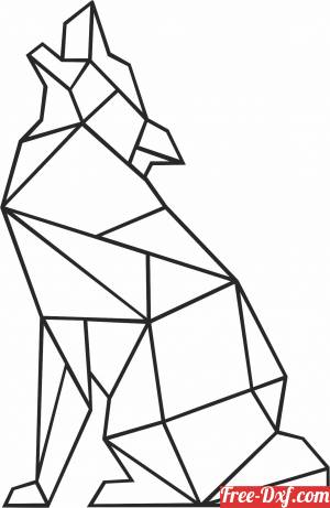 download Geometric Polygon wolf free ready for cut