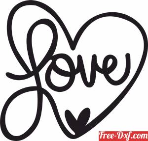 download love Sign heart clipart free ready for cut
