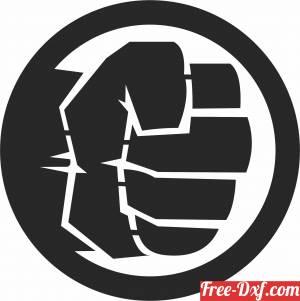 download hulk logo free ready for cut