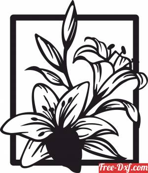 download floral flower home decor free ready for cut