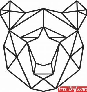 download Geometric Polygon bear free ready for cut