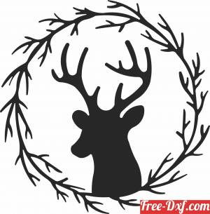 download deer ornaments christmas wall decor free ready for cut