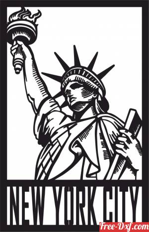 download Statue of Liberty Statue new york Home Decor free ready for cut
